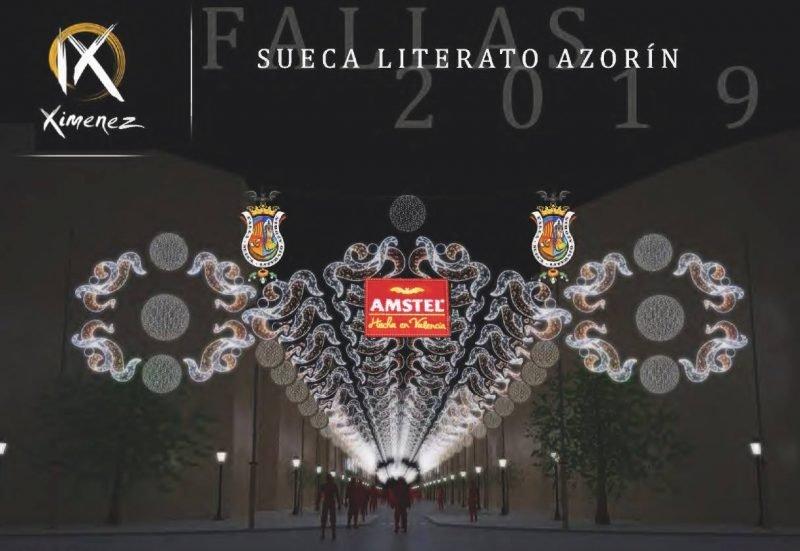 Fallas Luces Sueca Literato Azorin 2019