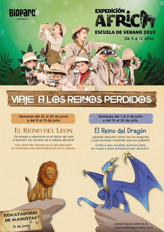 Escuela Verano Bioparc Valencia Cartel 2019
