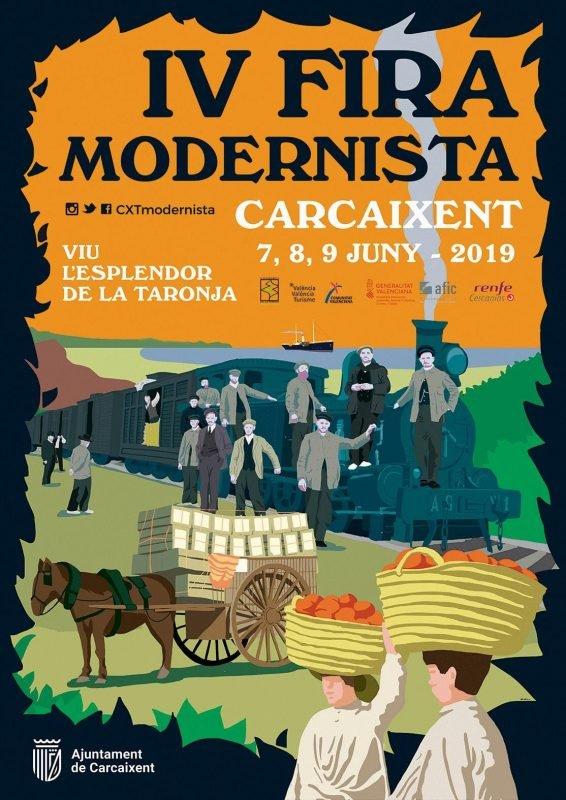 Fira Modernista Carcaixent 2019 Cartel