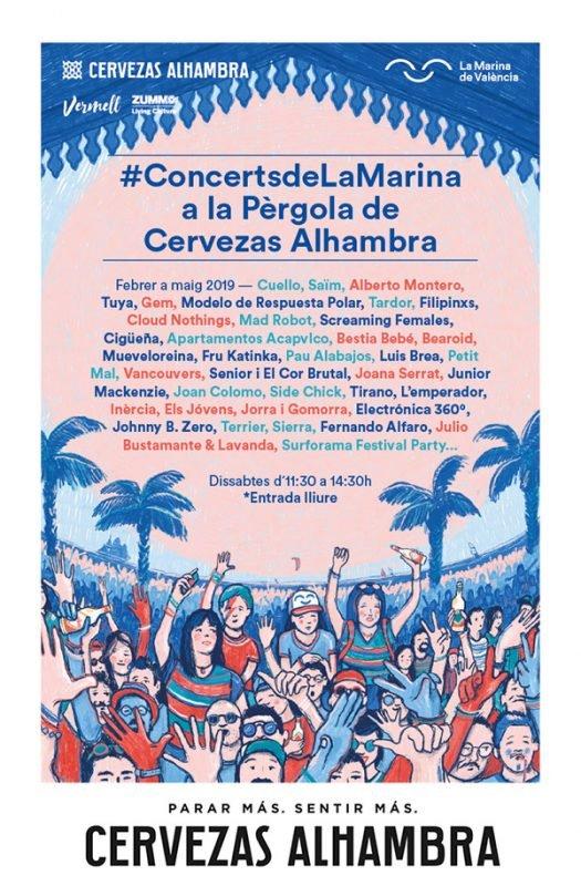 Marina Valencia Conciertos 2019 Cartel