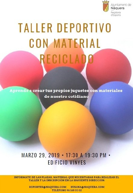 Taller Deportivo Reciclado Naquera