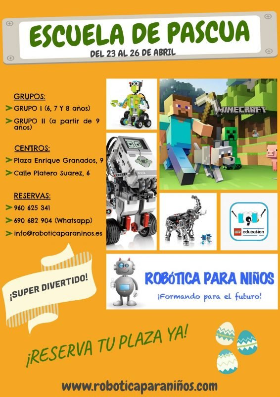 Escuela Pascua Robotica Para Niños 2019