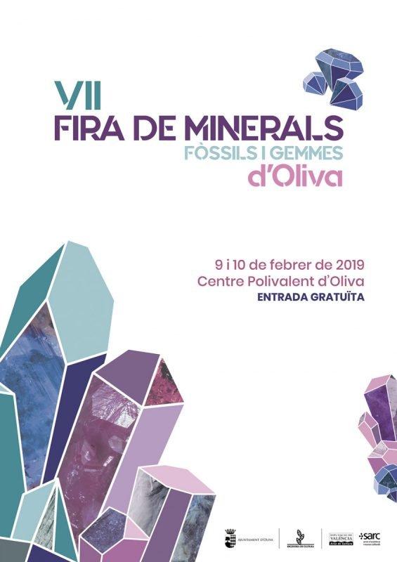 Feria Minerales Fosiles Gemas Oliva 2019 Cartel