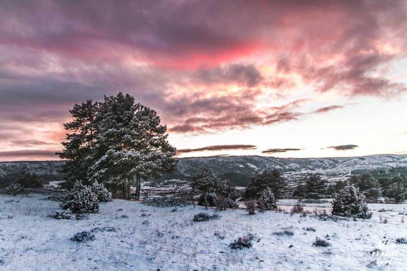 Nieve Puesta Sol Albarracin