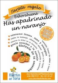 Tarjeta Regalo Apadrina Naranjo Huertos Del Turia