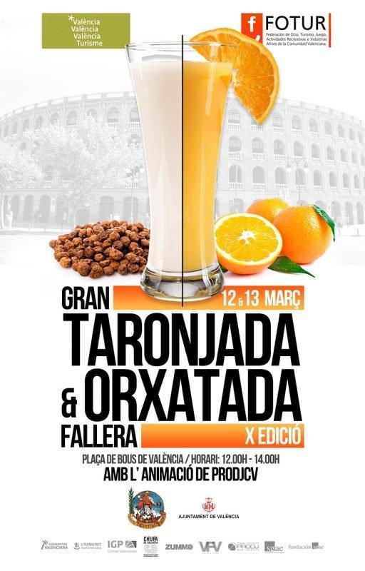 Fallas 2019 Horchatada Naranjada Cartel