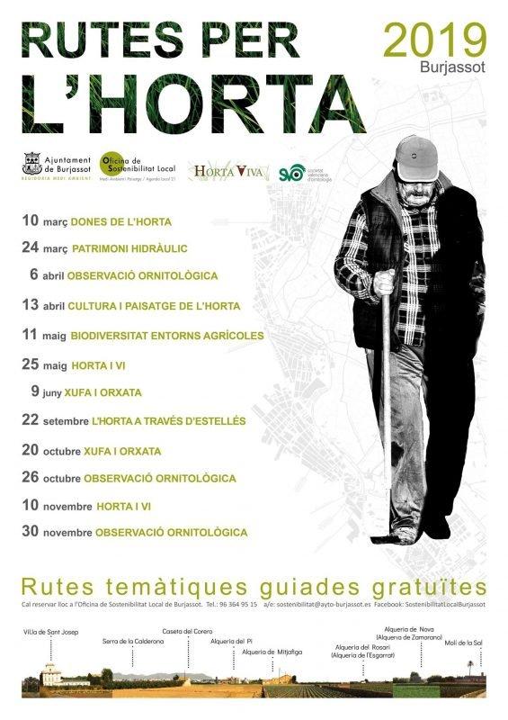 Rutas Horta Burjassot Cartel 2019