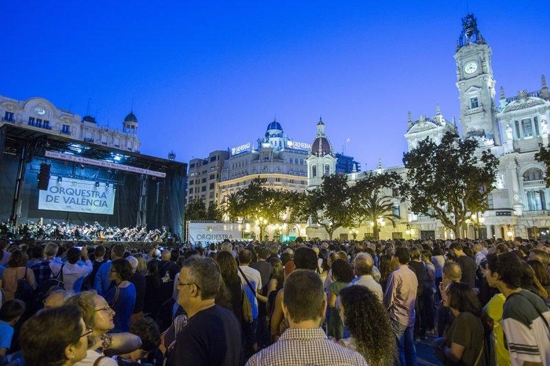 Concierto Orquesta Valencia Plaza Ayuntamiento 1