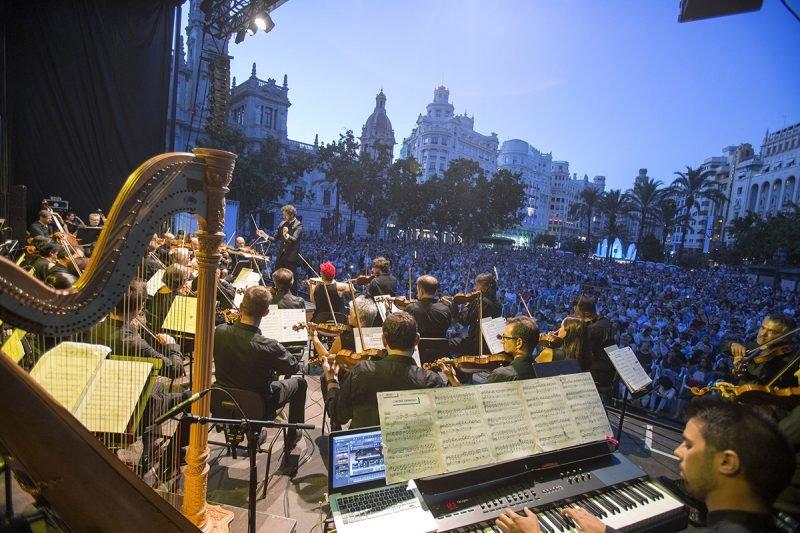 Concierto Orquesta Valencia Plaza Ayuntamiento 2