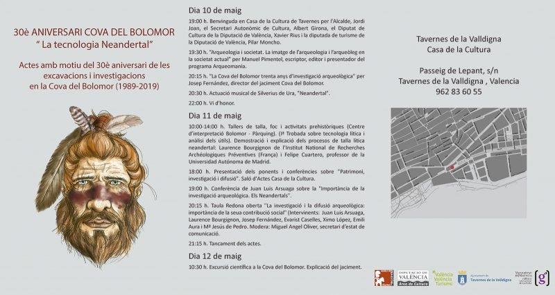 Jornadas 30 Aniversario Cova Bolomor Programa