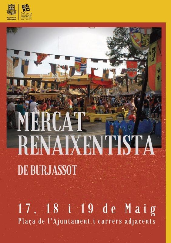 Mercado Renacentista Burjassot 2019 Cartel