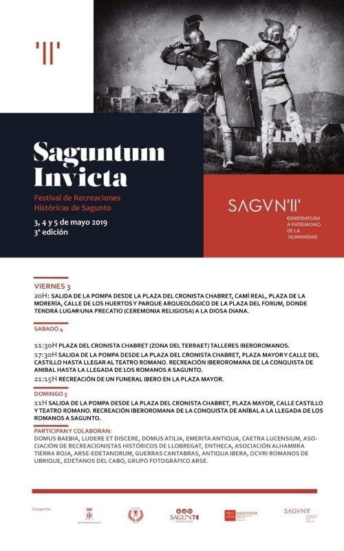 Saguntum Invicta 2019 Programacion