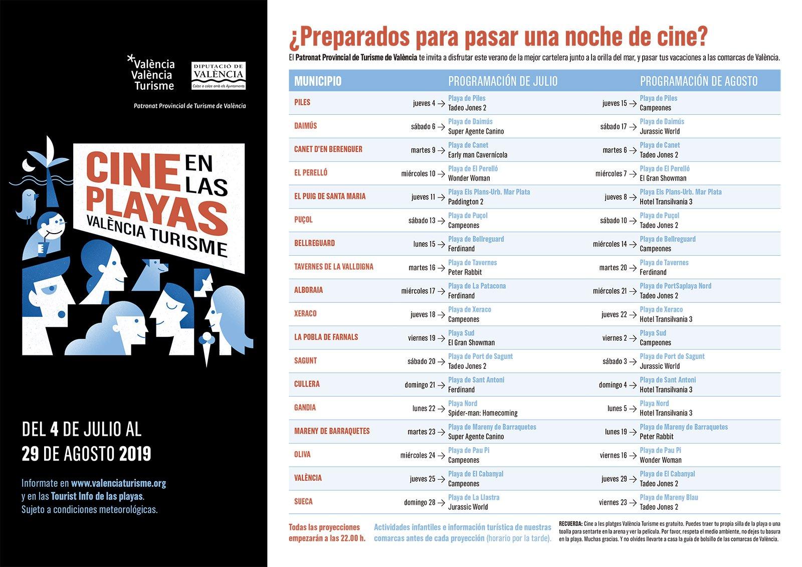Cine A La Fresca Playas 2019 Programacion