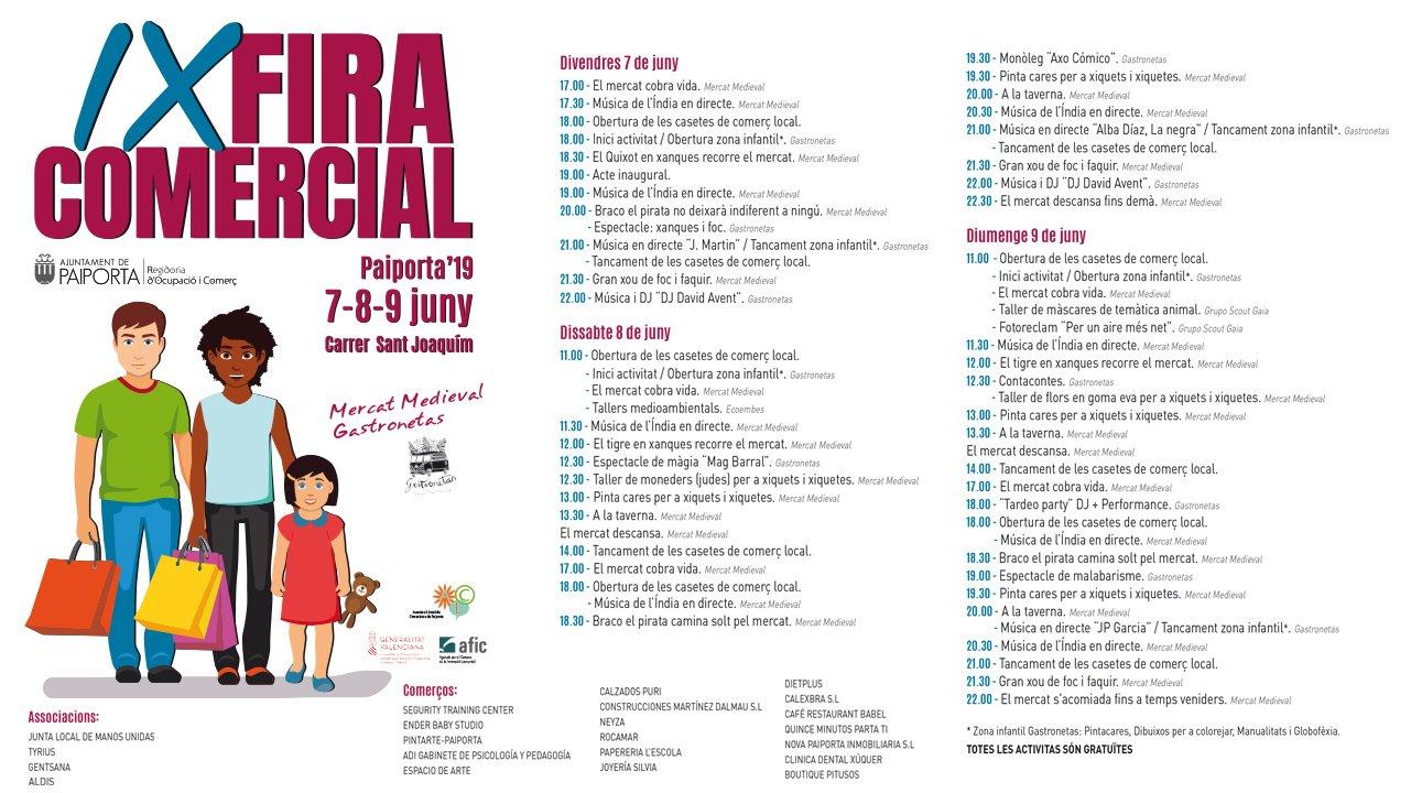 Feria Comercial Paiporta 2019 Programa
