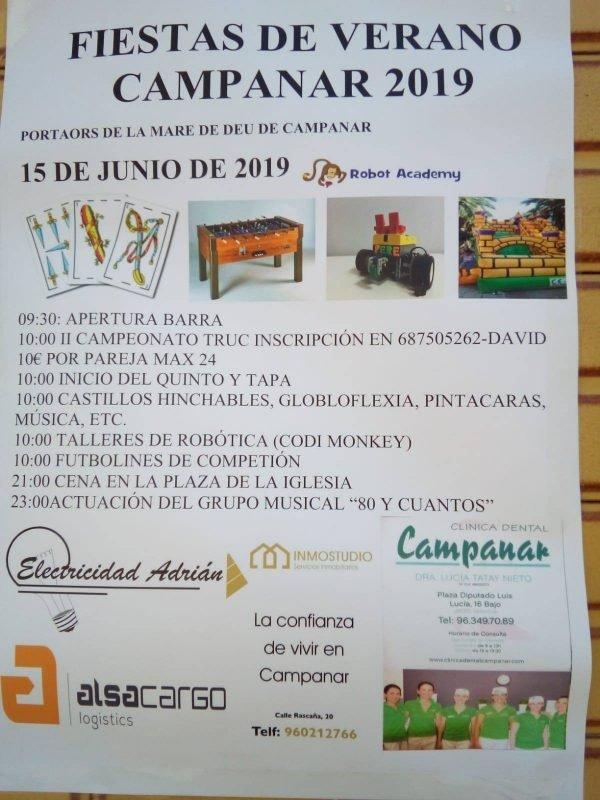 Fiestas Verano Campanar 2019 Programa