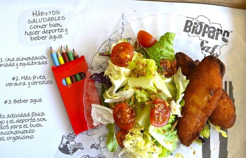 Restaurante Bioparc Zona Kids Comida