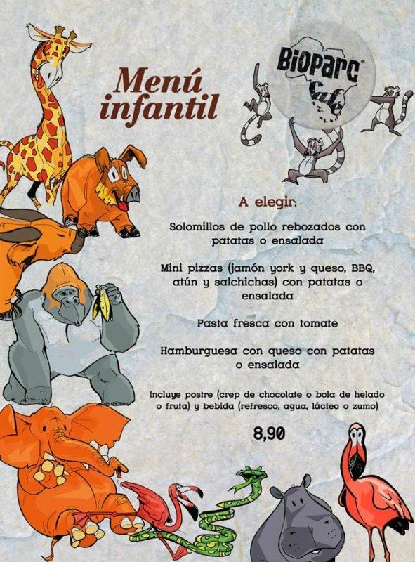 Restaurante Bioparc Zona Kids Menu