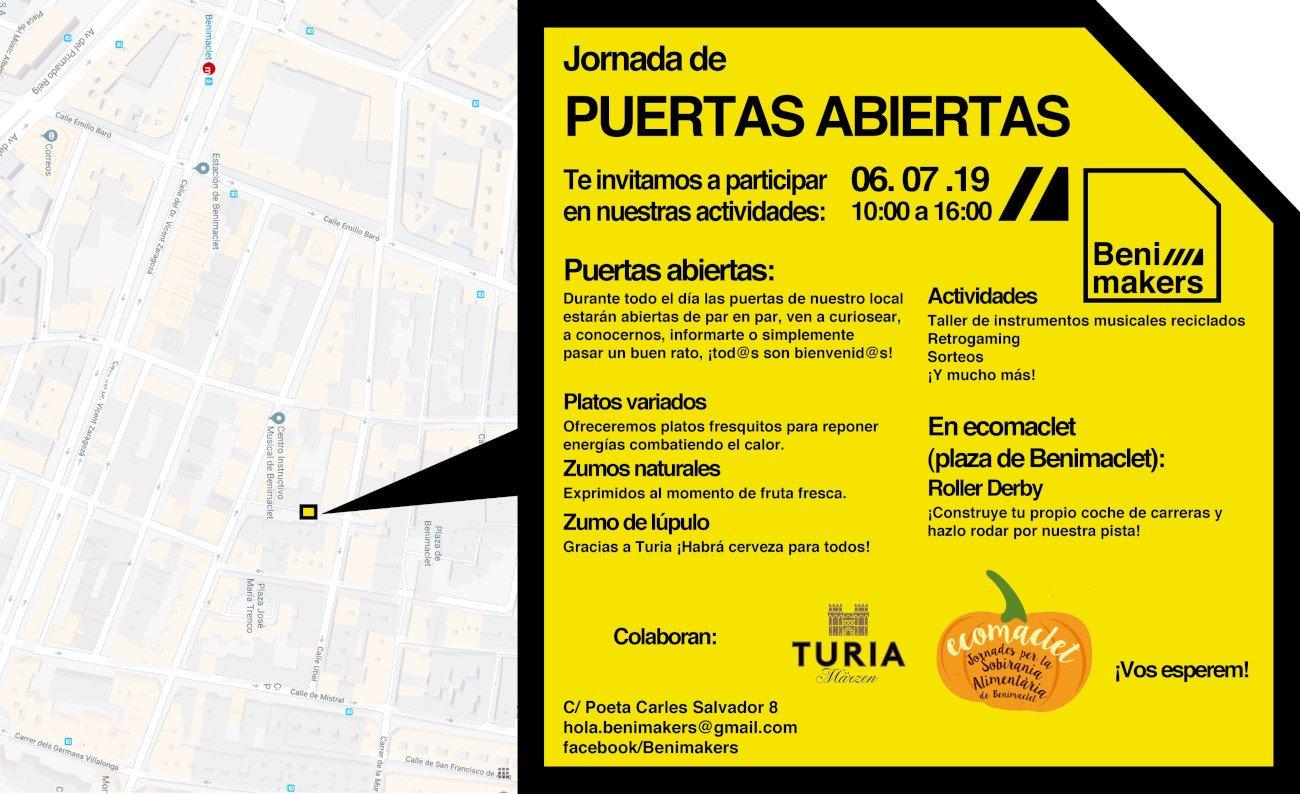 Benimakers Puertas Abiertas Julio 2019