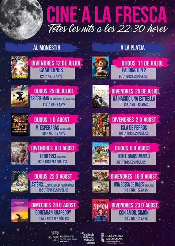 Cine Verano Puig 2019