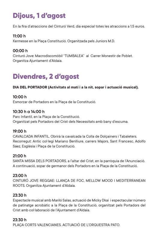 Fiestas Aldaia 2019 Programacion 4