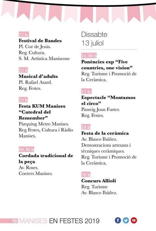 Fiestas Patronales Manises 2019 Programa 2