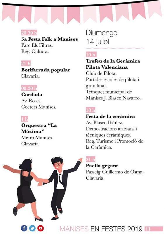 Fiestas Patronales Manises 2019 Programa 3