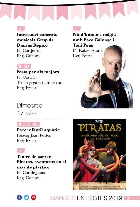 Fiestas Patronales Manises 2019 Programa 5