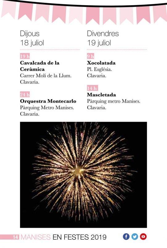 Fiestas Patronales Manises 2019 Programa 6