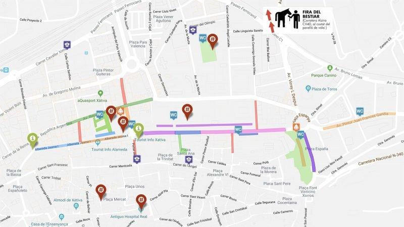 Fira Xativa 2019 Mapa