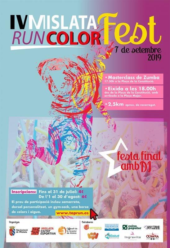 Mislata Run Colorfest 2019 Cartel