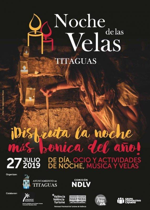 Noche Velas Titaguas Cartel 2019