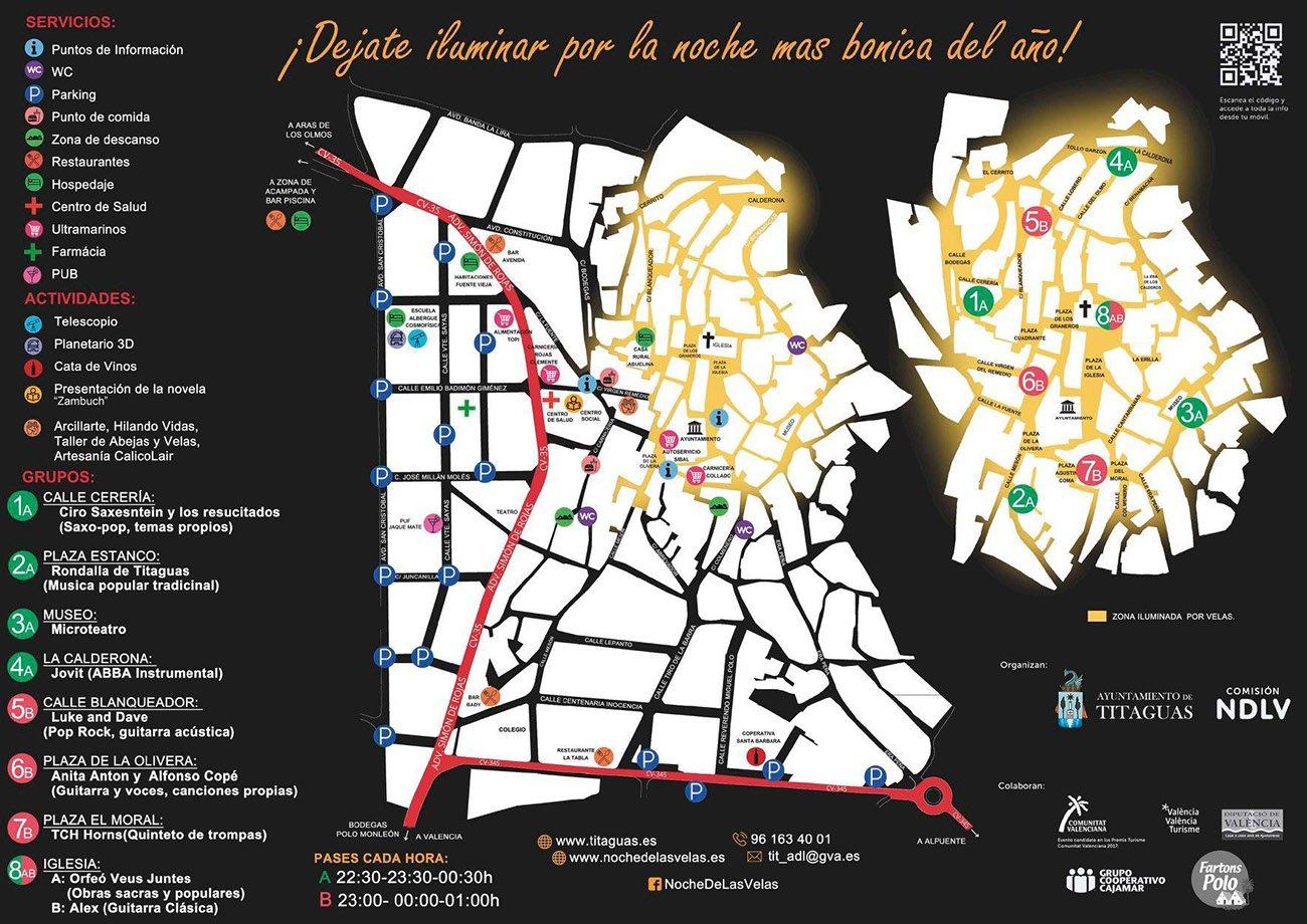 Noche Velas Titaguas Mapa 2019