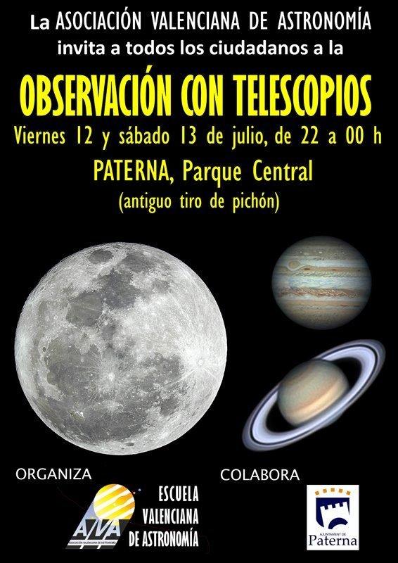 Observacion Telescopios Paterna Julio 2019