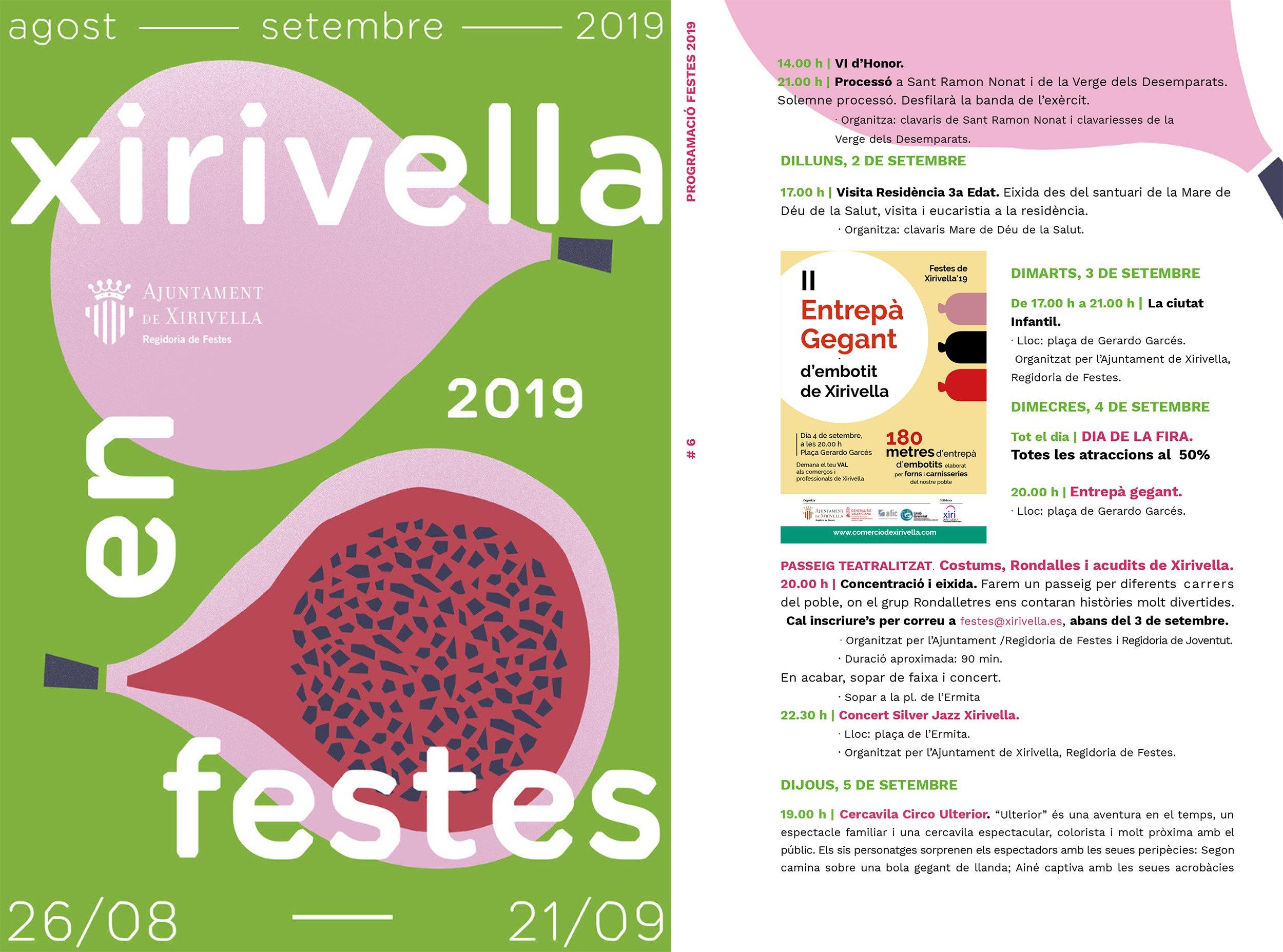 Fiestas Xirivella 2019 Programacion 1