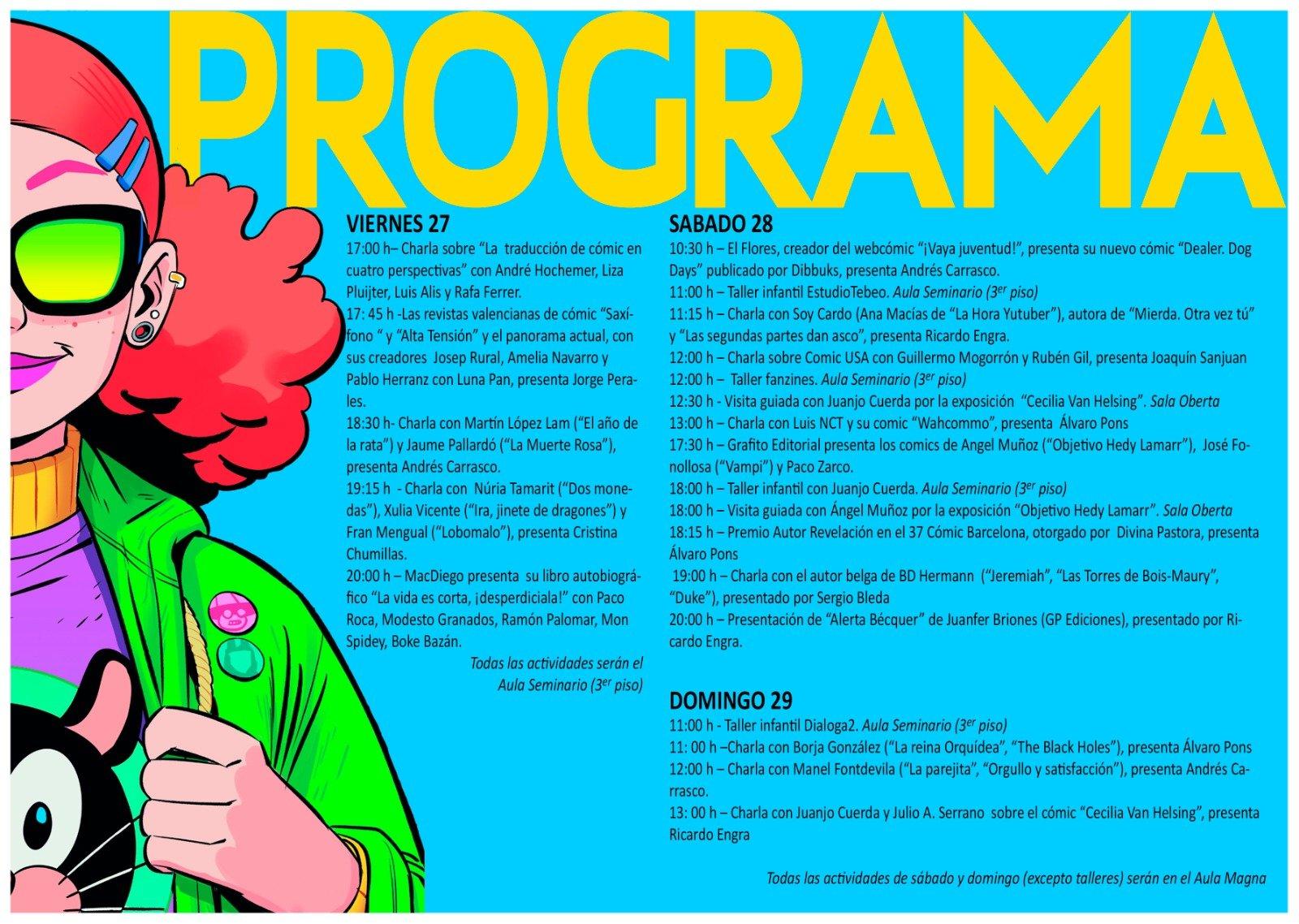Jornadas Comic Valencia 2019 Programa
