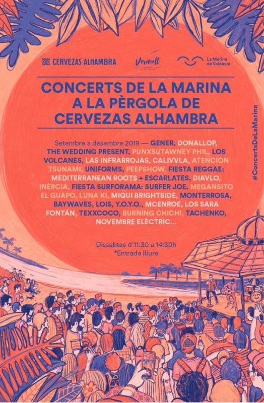 Marina Conciertos Valencia Cartel Otoño 2019