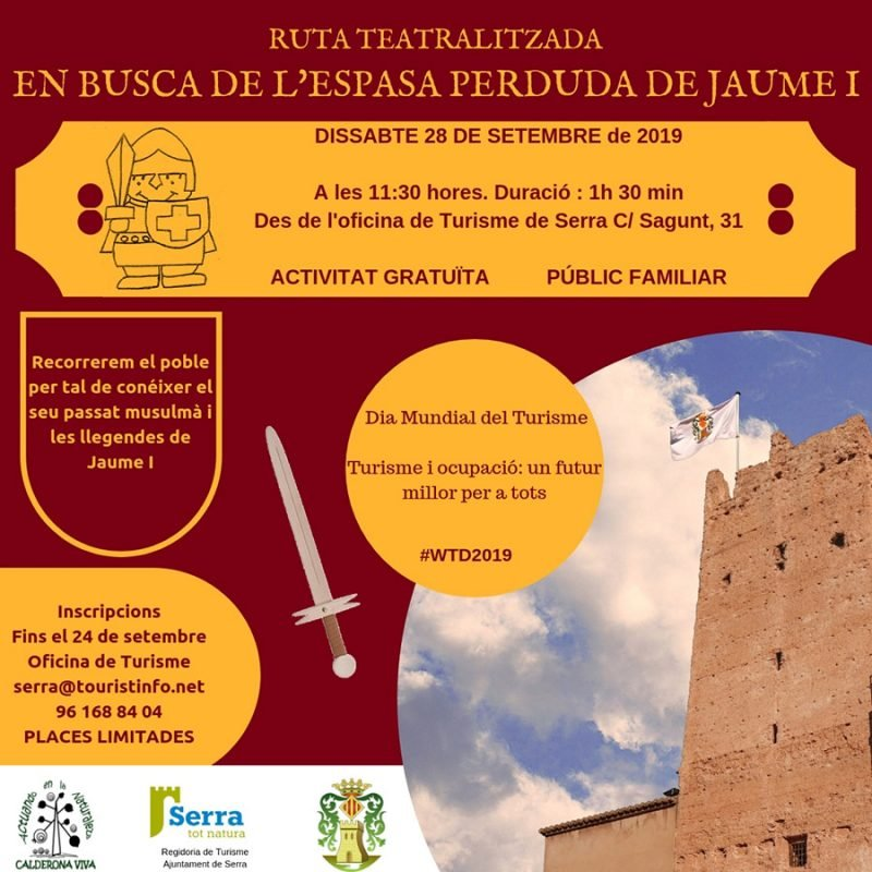 Ruta Teatralizada Espada Jaume Serra Septiembre 2019