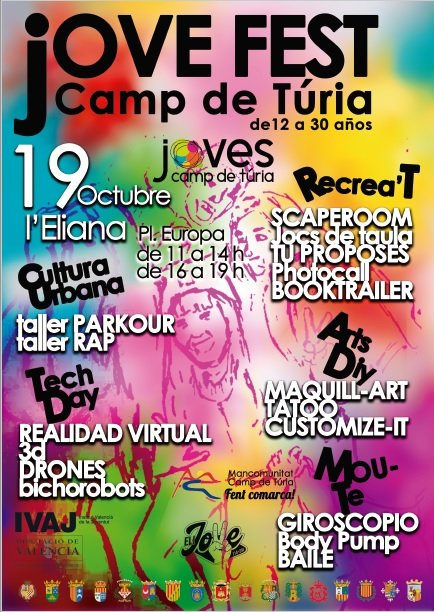 Jovefest Camp Turia 2019 Cartel