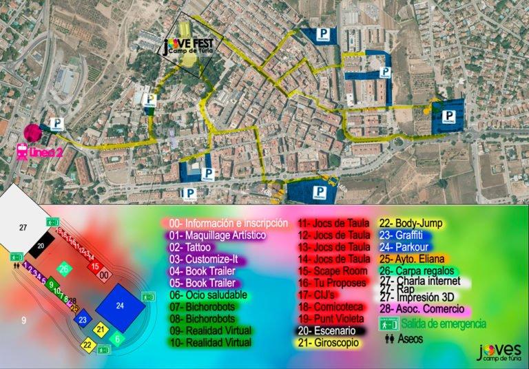 Jovefest Camp Turia 2019 Mapa