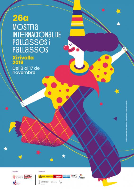 Mostra Pallassos Xirivella 2019 Cartel