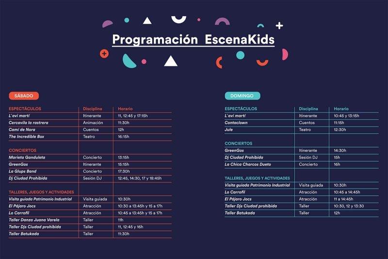 Escena Kids 2019 Programacion