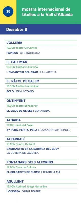 Mostra Titelles Vall Albaida 2019 DISSABTE 9