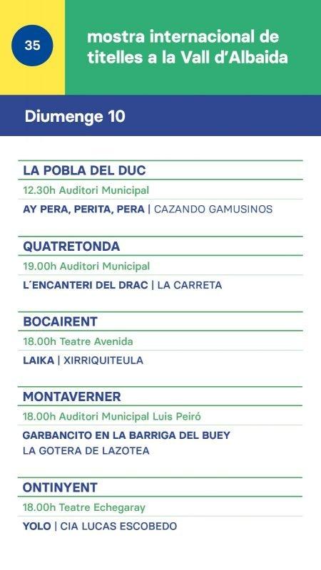 Mostra Titelles Vall Albaida 2019 DIUMENGE 10