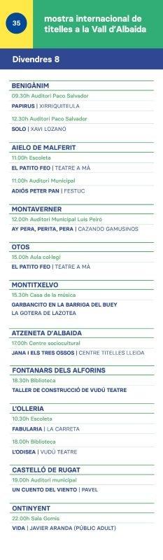 Mostra Titelles Vall Albaida 2019 DIVENDRES 8