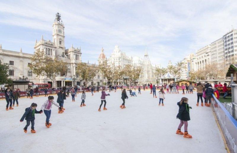 Pista Hielo Navidad Valencia 3
