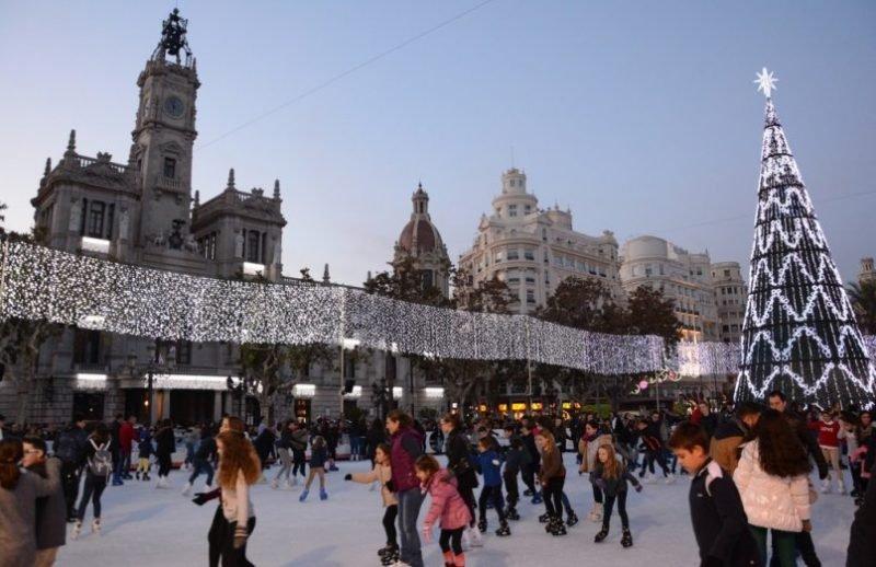 Pista Hielo Navidad Valencia 4