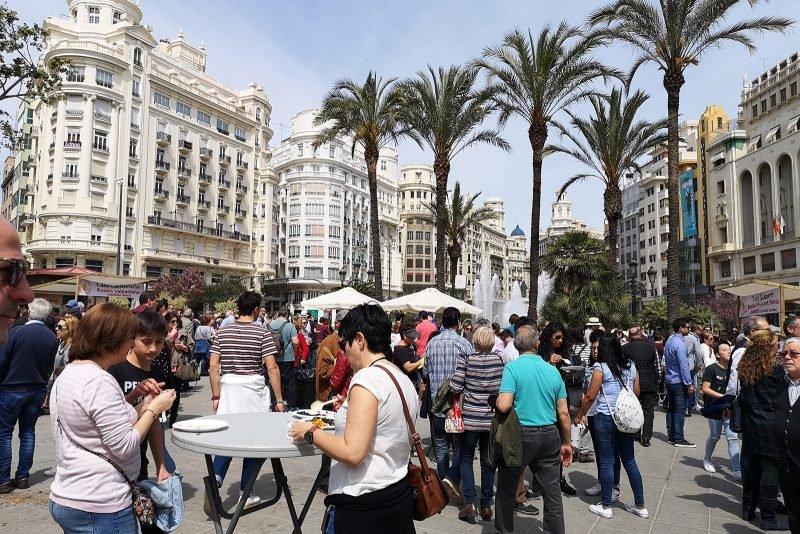 Plaza Ayuntamiento Valencia Fiesta