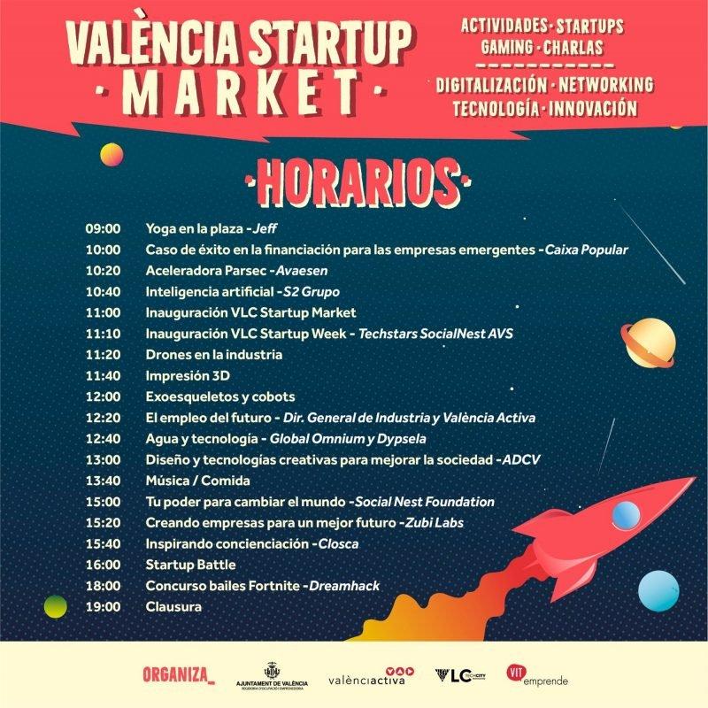 Valencia Startup Market 2019 Horarios