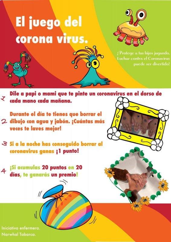 Juego Lavar Manos Coronavirus
