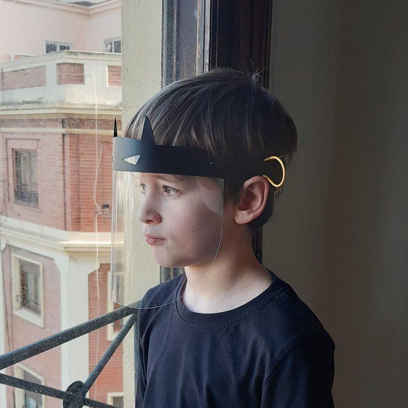 Proteccion Facial Niños Superheroe Dani